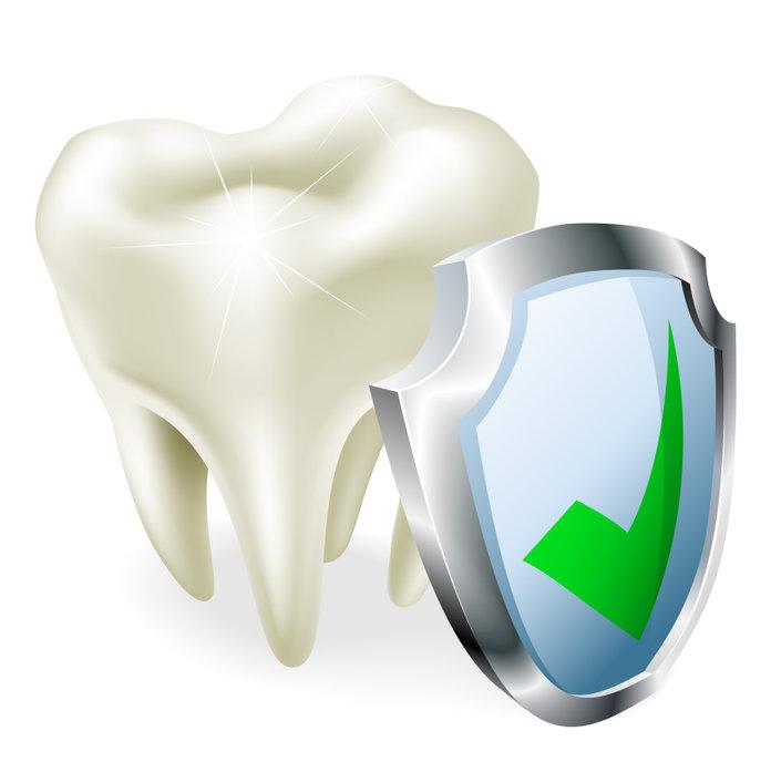 Grafika obrazująca ochronę zęba